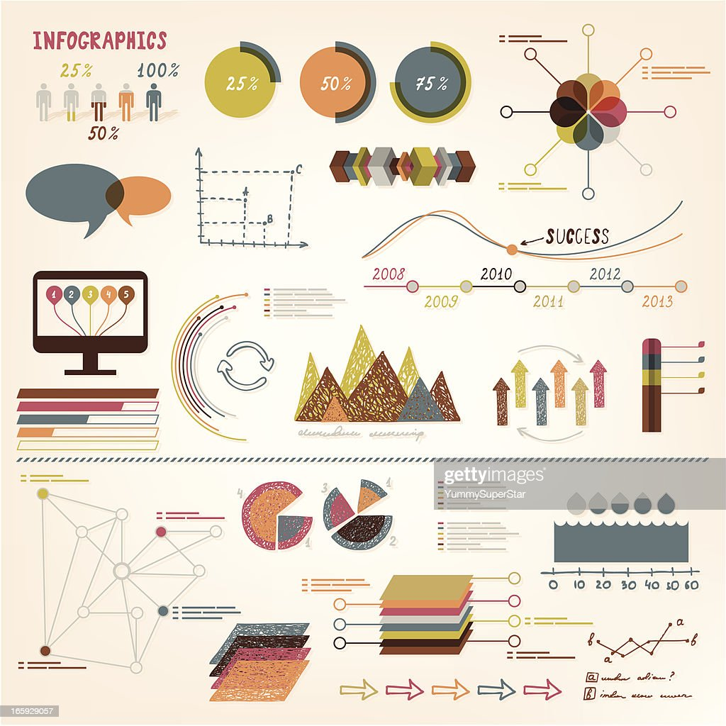 Infographics vector elements : stock illustration