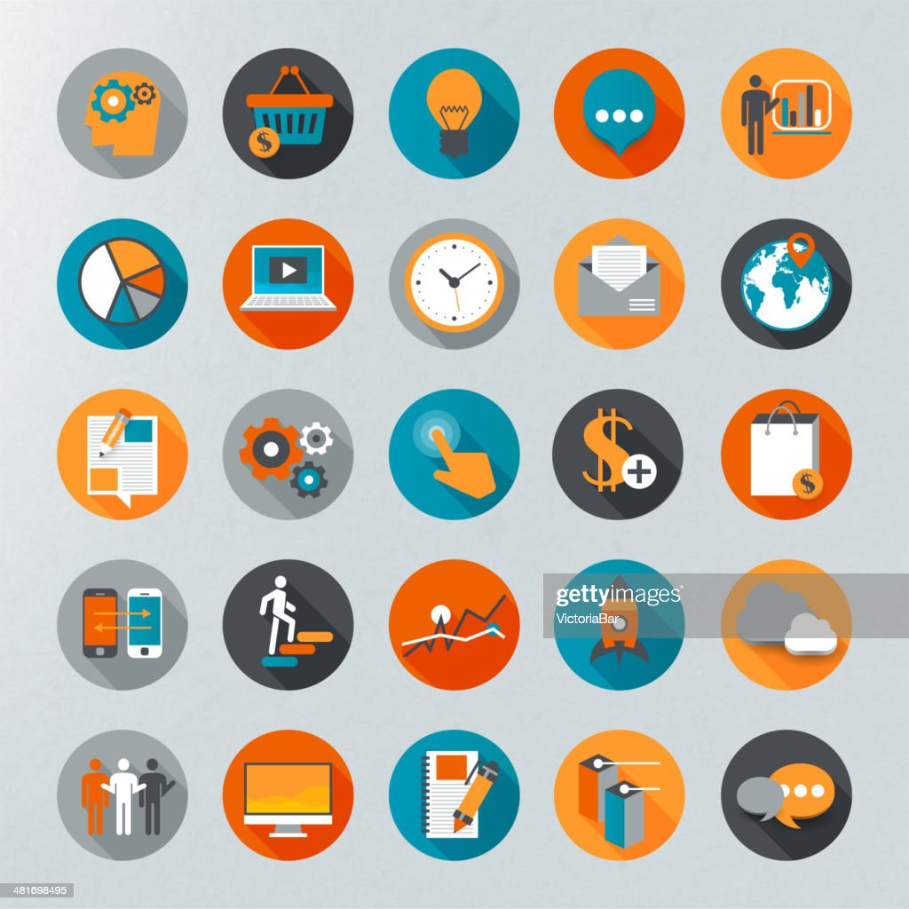 Infographics vector icon set