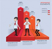 Infographics With Businessman Characters