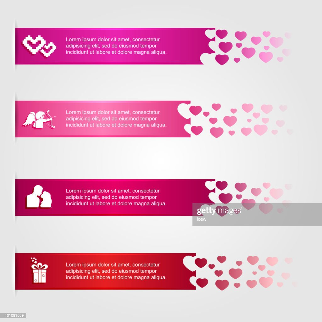 Infographics with hearts