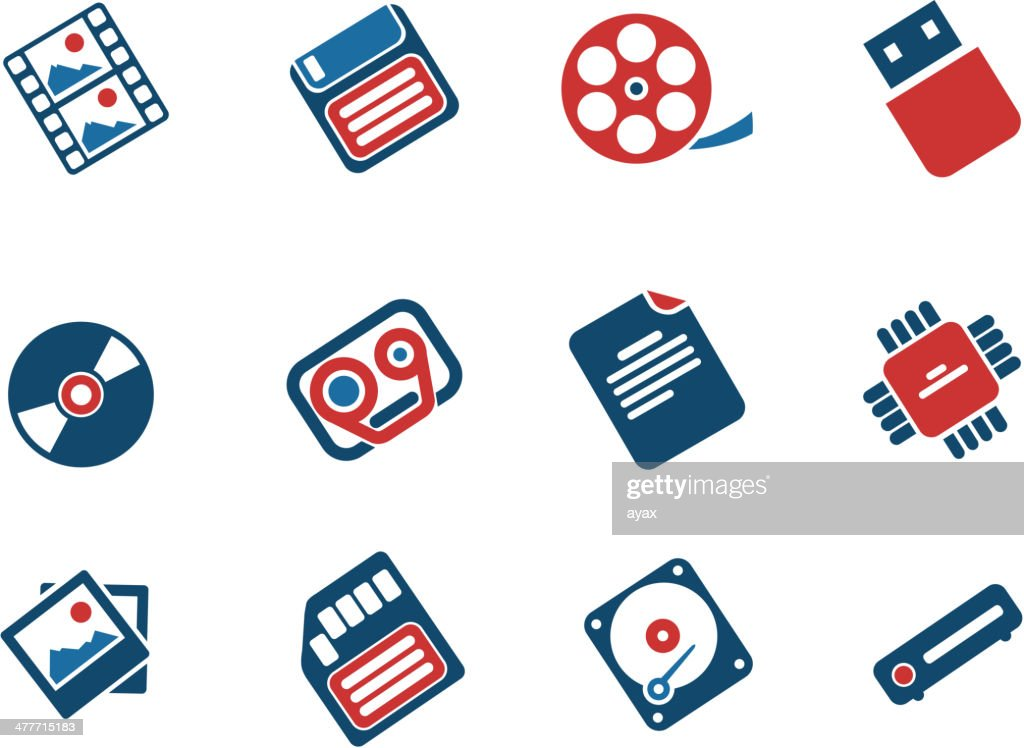Information carriers icons
