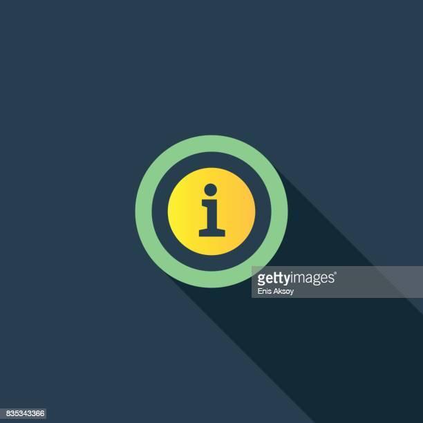 information flat icon - letter i stock illustrations