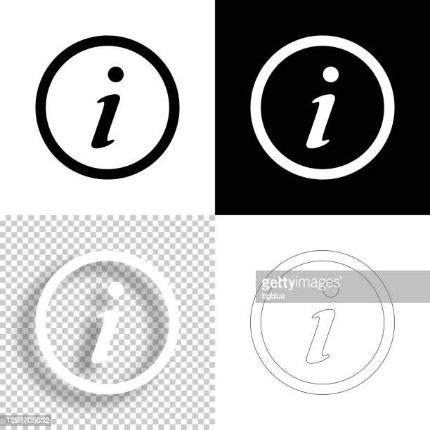 information. icon for design. blank, white and black backgrounds - line icon - information medium stock illustrations