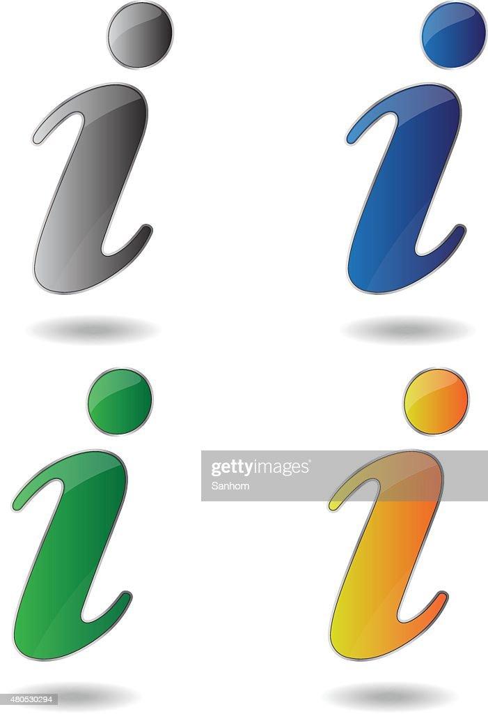 information symbol glänzende Vektor-design isoliert weiß : Vektorgrafik