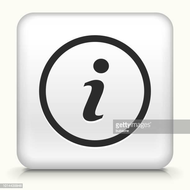 information icon - letter i stock illustrations