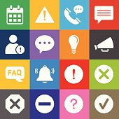 Information Icons and Color Background