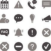 Information Icons Gray Color