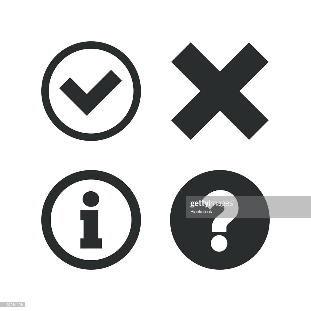 Information icons. Question FAQ symbol
