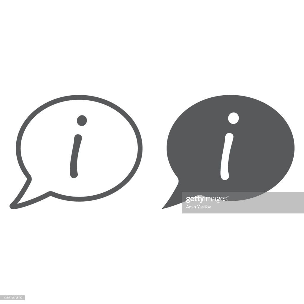 Information line and glyph icon, e commerce and marketing, help sign vector graphics, a linear pattern on a white background, ep