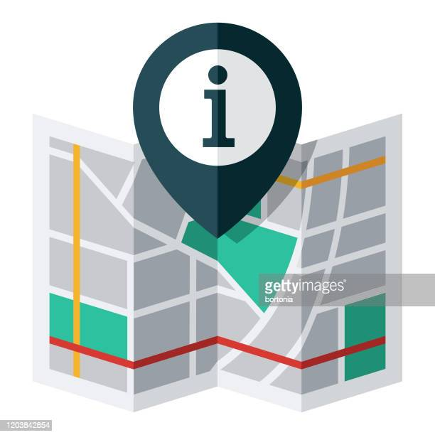information map pin icon - geographical locations stock illustrations