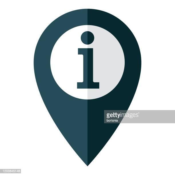 informationen karte pin-symbol - gps stock-grafiken, -clipart, -cartoons und -symbole