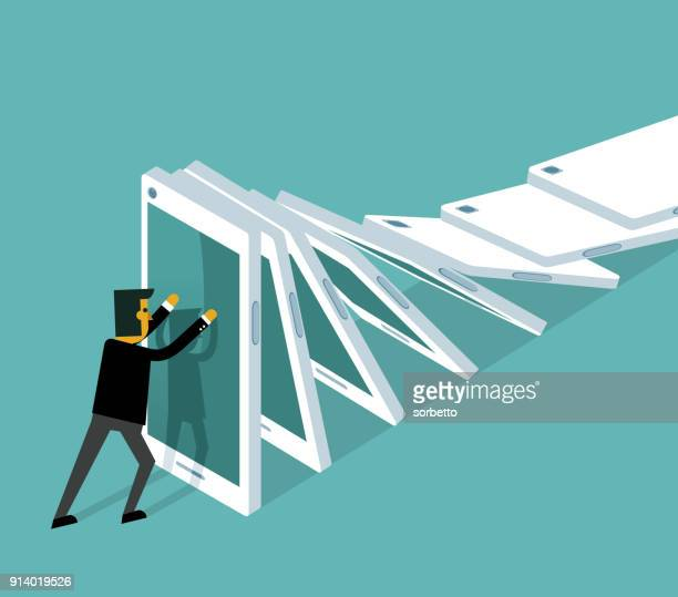 Information overload - businessman