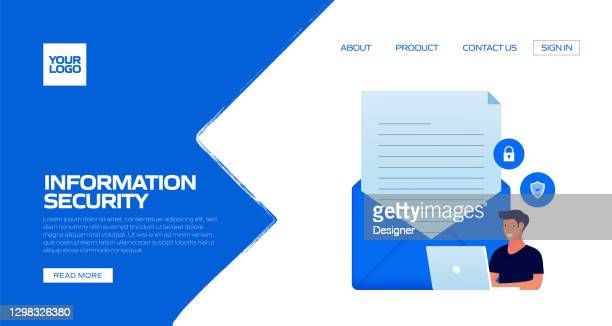 information security concept vector illustration for landing page template, website banner, advertisement and marketing material, online advertising, business presentation etc. - verification stock illustrations