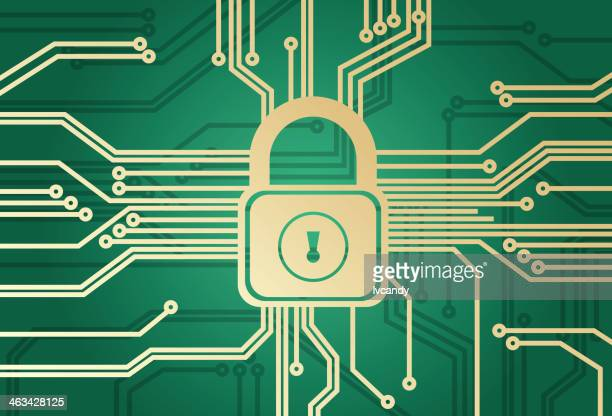 information security - cyborg stock illustrations, clip art, cartoons, & icons