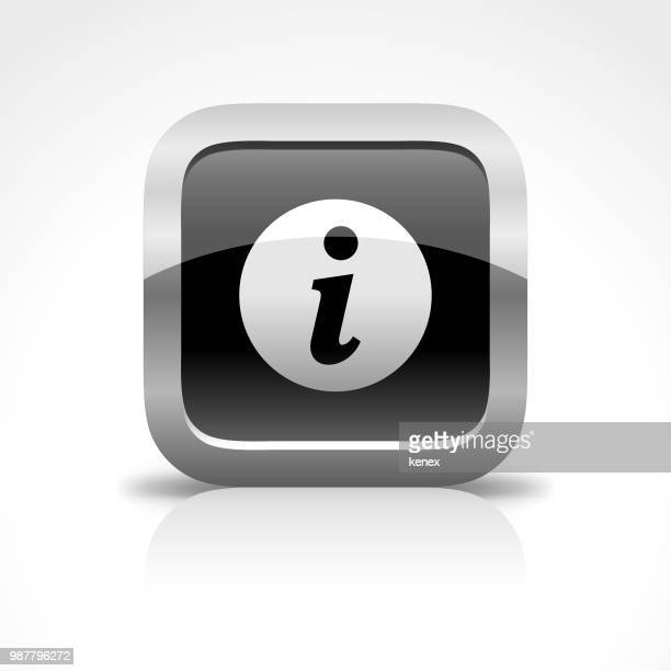 information sign glossy button icon - information symbol stock illustrations, clip art, cartoons, & icons