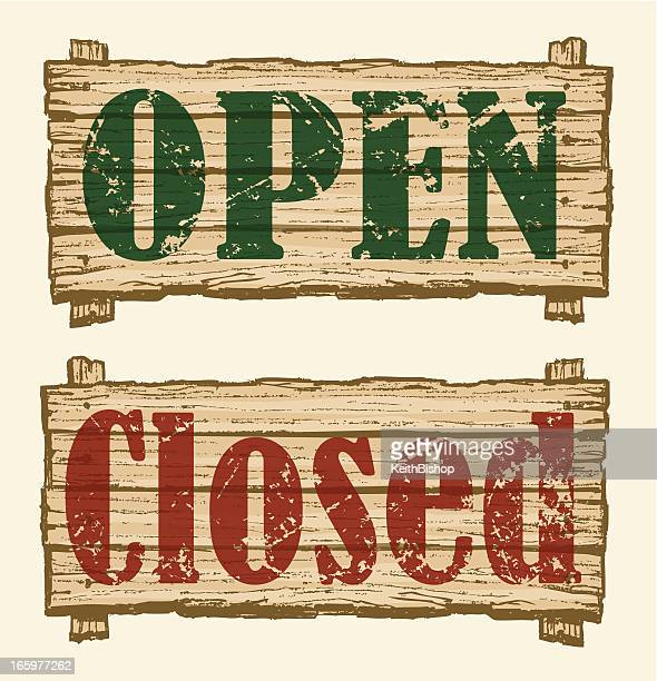 information signs - open, closed, retail business - closed sign stock illustrations, clip art, cartoons, & icons