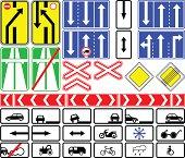 Information traffic signs.