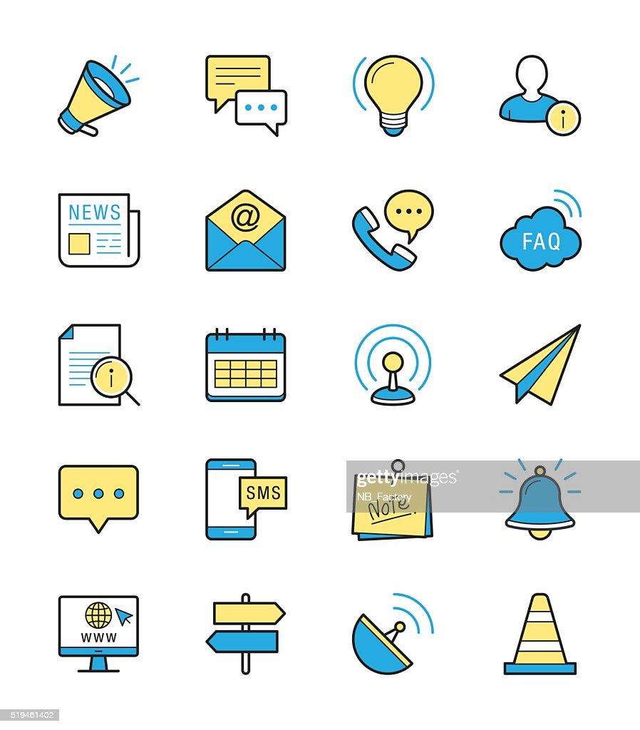 Information & Website icon, Monochrome color - Vector Illustration