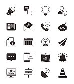 Information & Website icon on White Background Vector Illustration