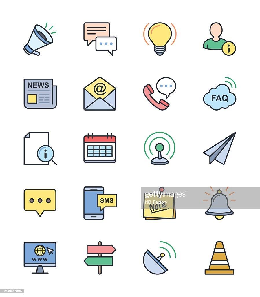 Information & Website icons, color set - Vector Illustration