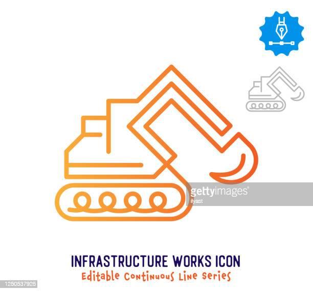 インフラストラクチャの動作連続行編集可能アイコン - 掘る点のイラスト素材/クリップアート素材/マンガ素材/アイコン素材