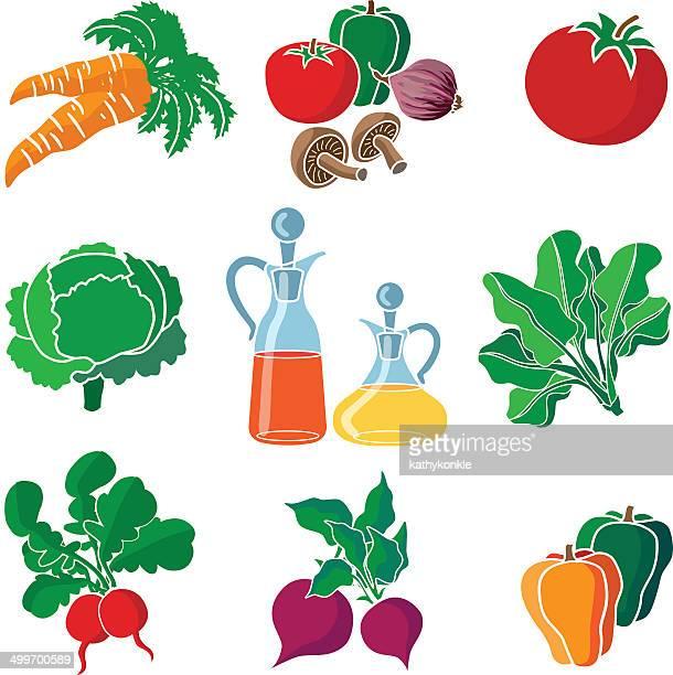 Ingredientes de ensalada