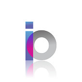 Initial Letter Logotype Lowercase overlaping pink and grey