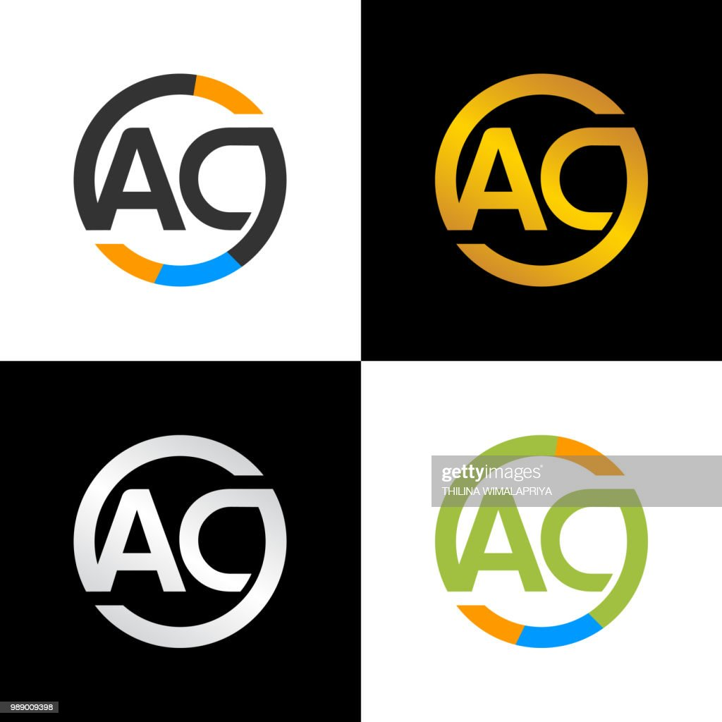 AC Initial Letters Circle Logo