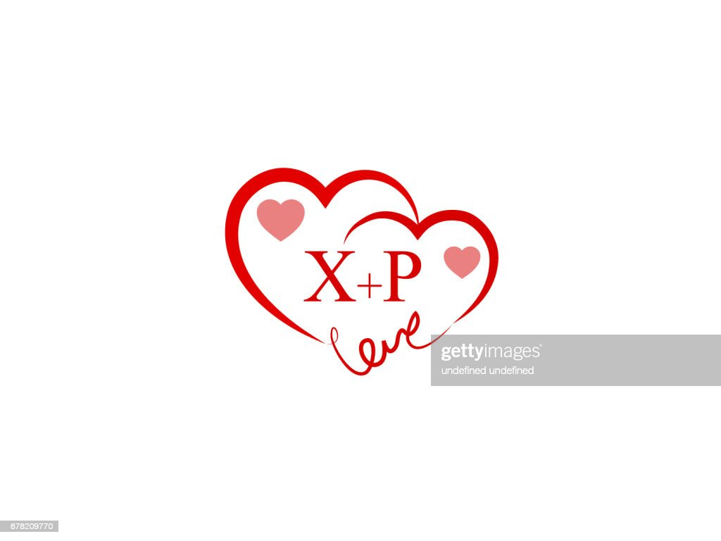XP Initial love template logo