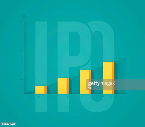initial public offering investment stock increase - initial public offering stock illustrations