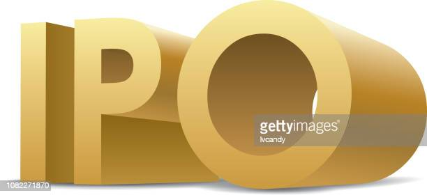 ipo(initial public offerings) - initial public offering stock illustrations