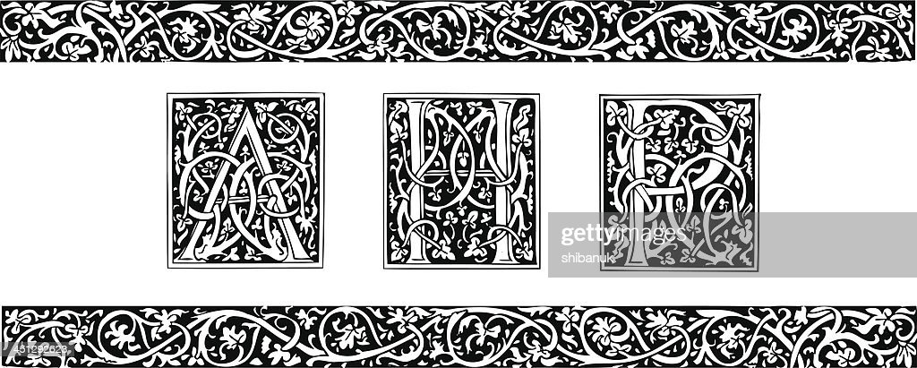 Initials and ornamental border