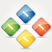 Injection Colorful Vector Icon Design