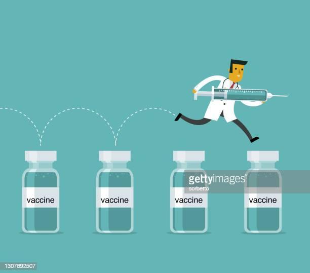 injection - viral shedding stock illustrations