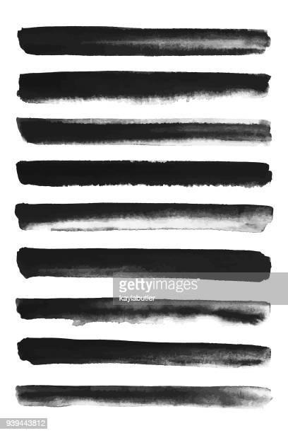 Ink Brush Stroke Set - Straight lines