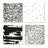 Ink hand drawn textures