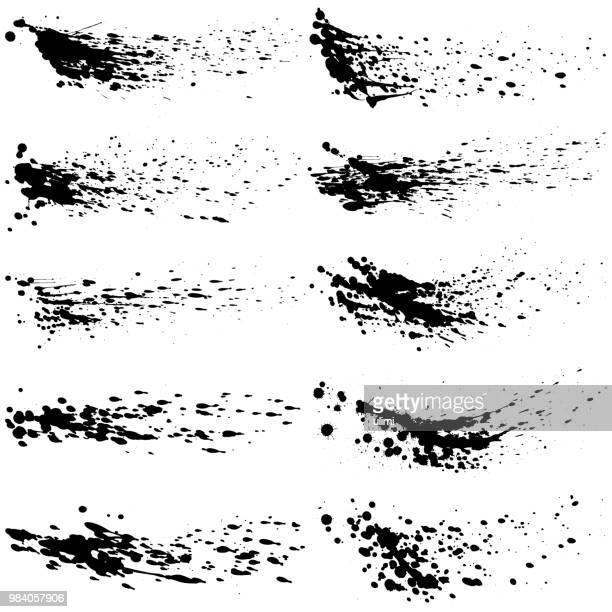 tinte spritzt. lack-design-elemente - schlamm stock-grafiken, -clipart, -cartoons und -symbole