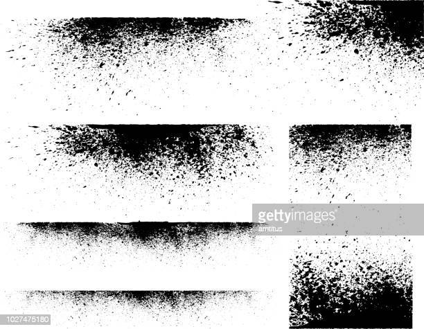 ink stains - paint textures stock illustrations