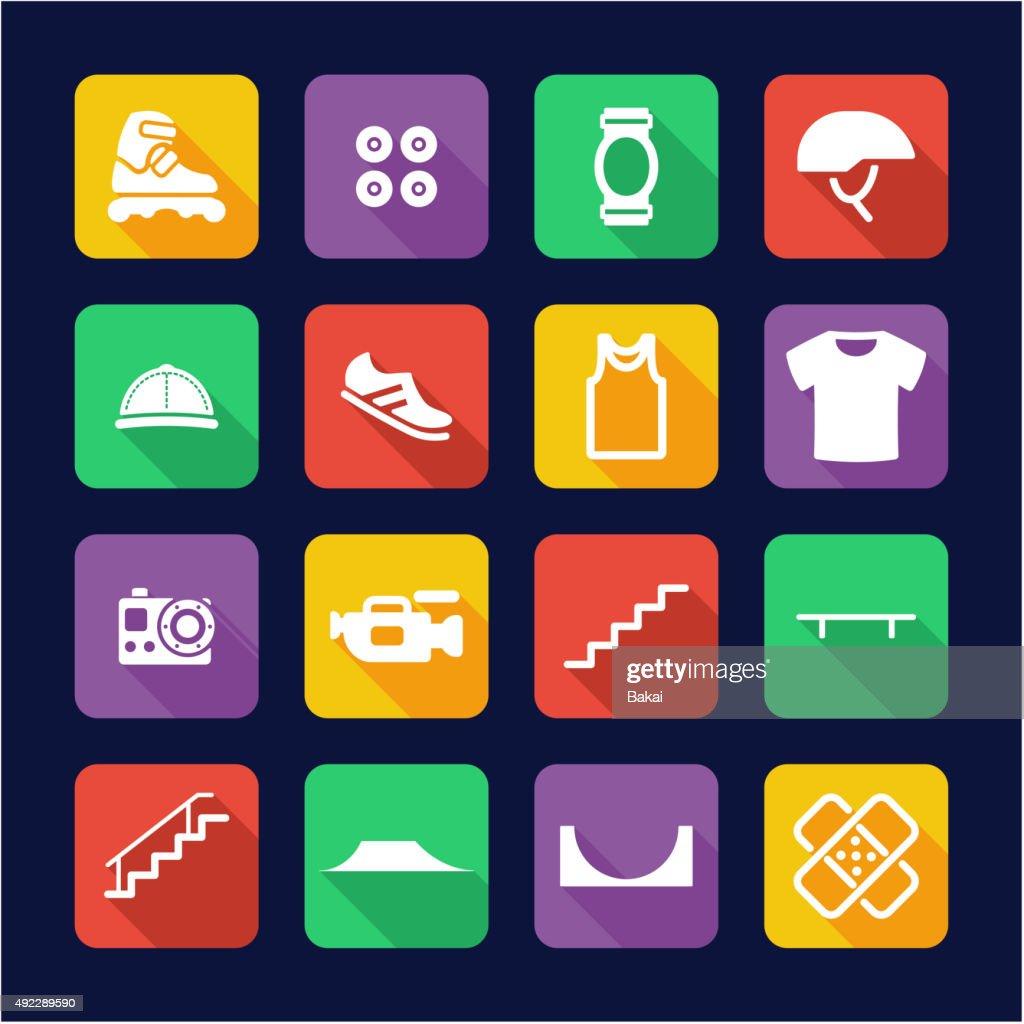 Inline Icons Flat Design