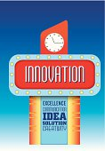 innovation and creativity business design messages in retro vint
