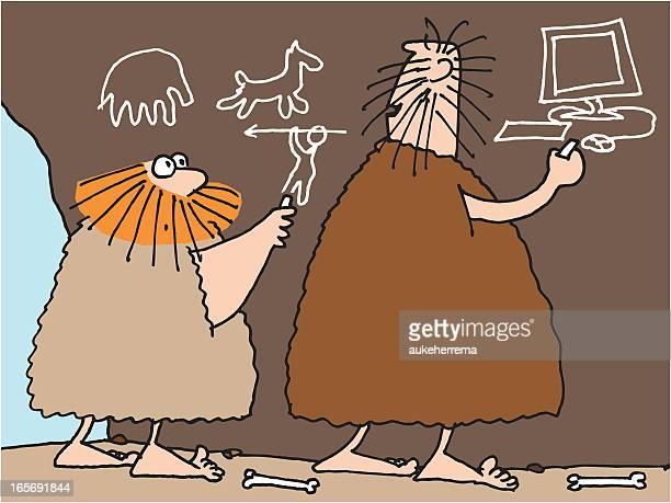 innovation - paleolitico stock illustrations