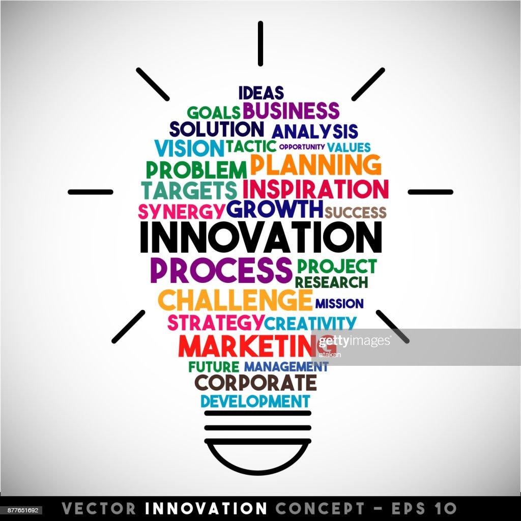 Innovation vector light bulb idea concept