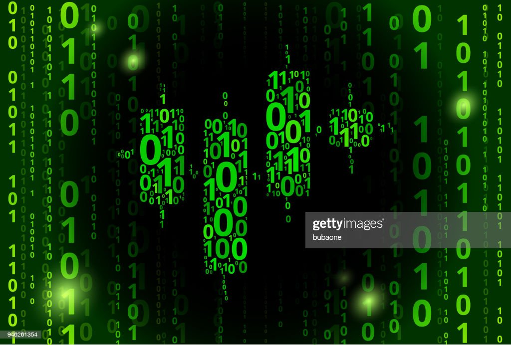 Input And Output Chart Binary Code Vector Pattern Background Stock