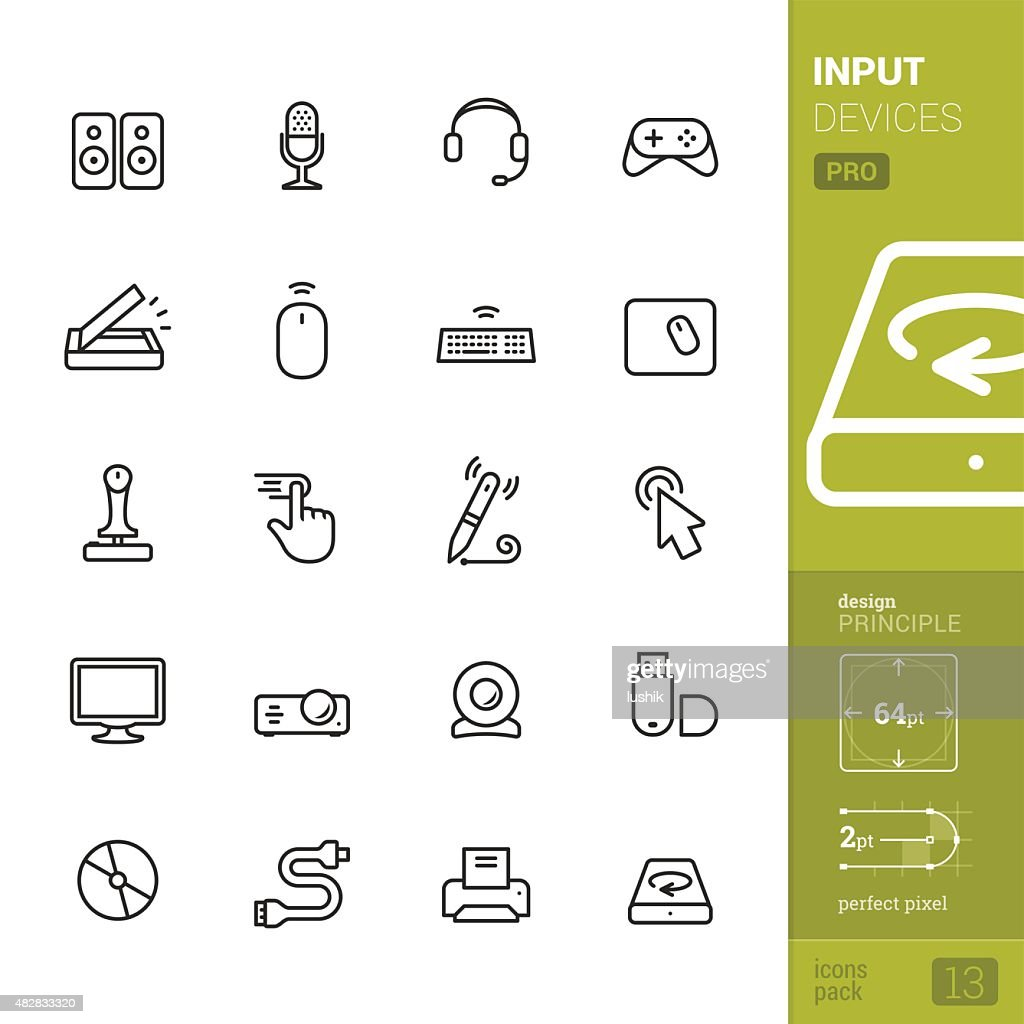 Input Devices related vector icons - PRO pack