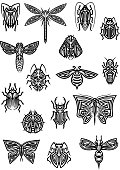 Insect animals tattoos and symbols
