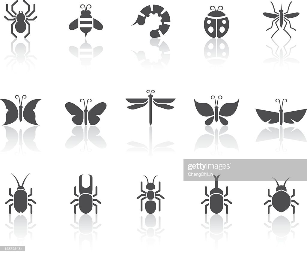 Insect Icons   Simple Black Series