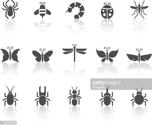 Insect Icons | Simple Black Series