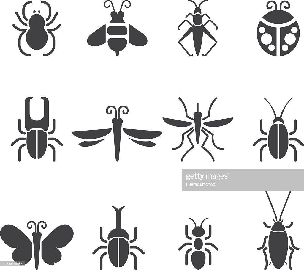 Insect Silhouette icons| EPS10 : stock illustration
