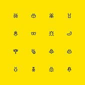 Insects Icons - Line