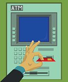 Insert and remove ATM card
